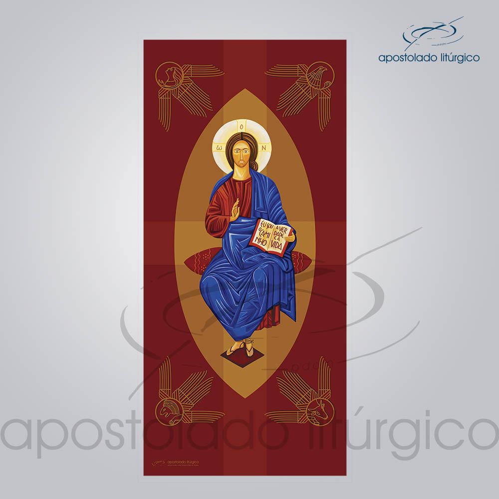 Banner Cristo Pantocrato 300x140 cm | Apostolado Litúrgico Brasil