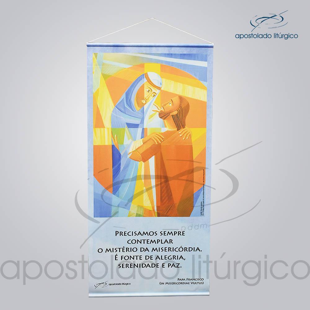 Banner da Misericordia 40x84cm | Apostolado Litúrgico Brasil