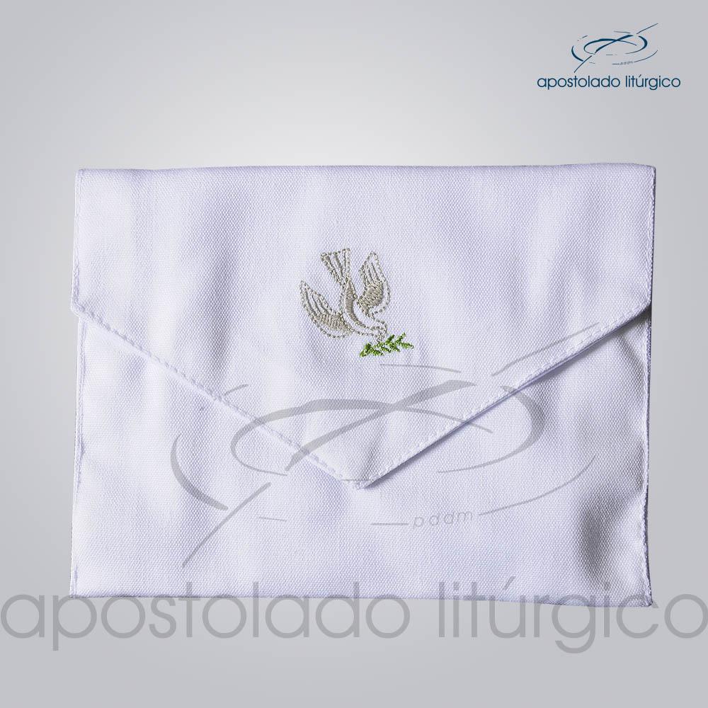 Bolsa de Viatico Bordada Pomba 15x10cm COD 1266 | Apostolado Litúrgico Brasil