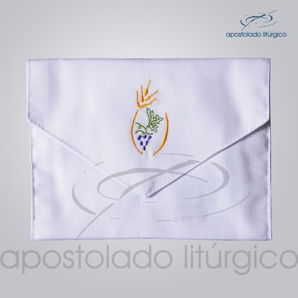 Bolsa de Viatico Bordado Trigo e Uva 10X15 cm COD 01266 0004 | Apostolado Litúrgico Brasil