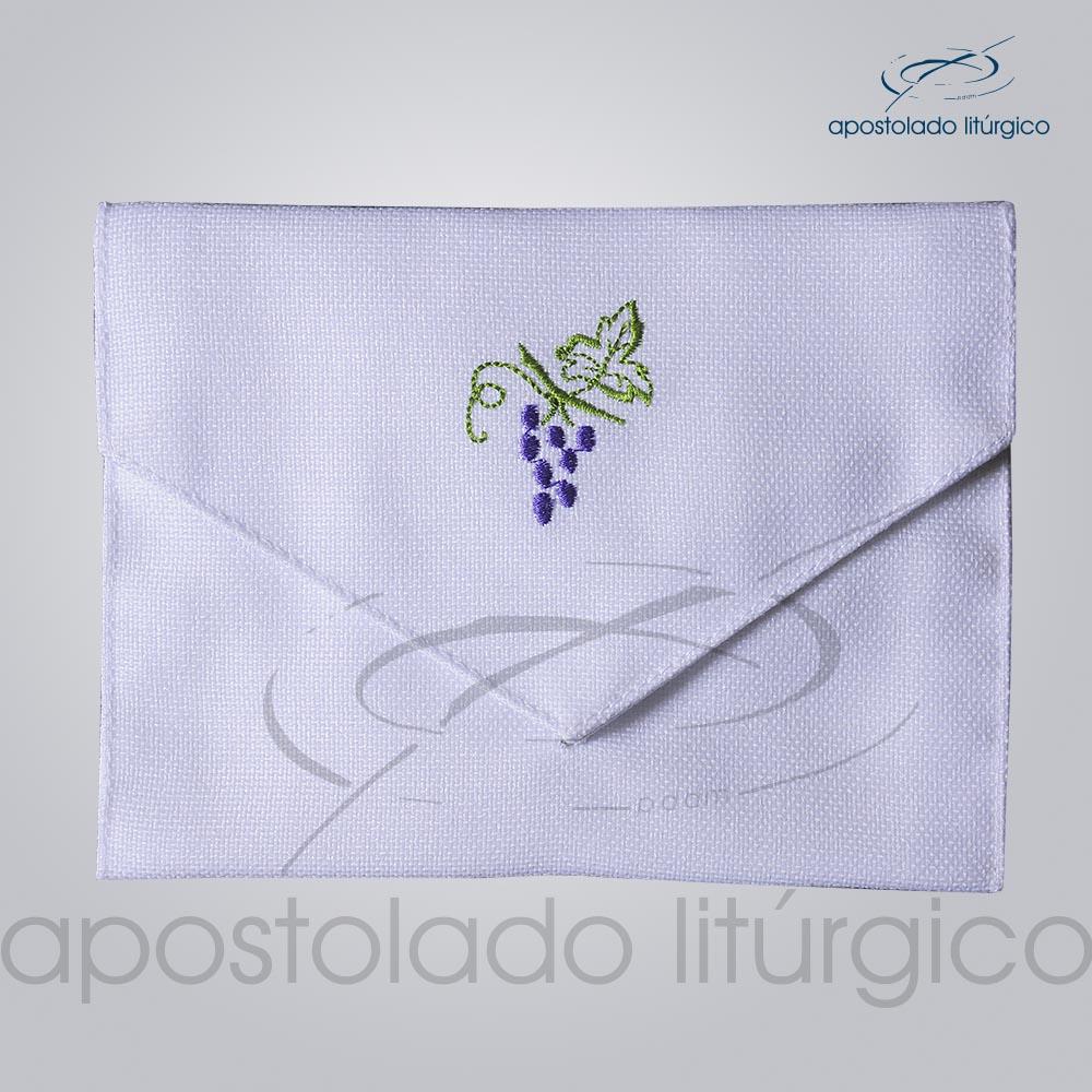 Bolsa de Viatico Bordado Uva 10X15 cm COD 01266 0002 | Apostolado Litúrgico Brasil