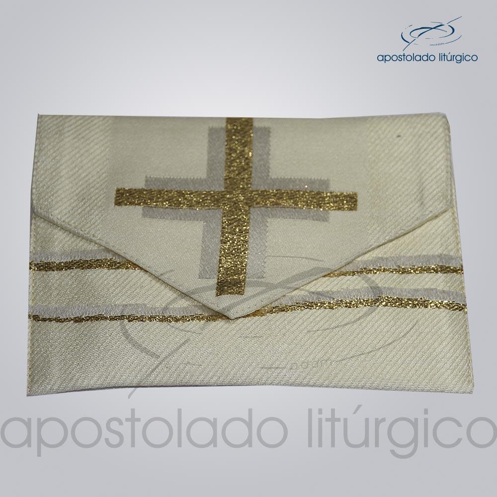 Bolsa de Viatico Brocada cruz caminho 10X15 cm 2018 | Apostolado Litúrgico Brasil