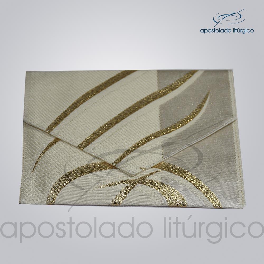 Bolsa de Viatico Brocada peixe pao 10X15 cm 2018 | Apostolado Litúrgico Brasil