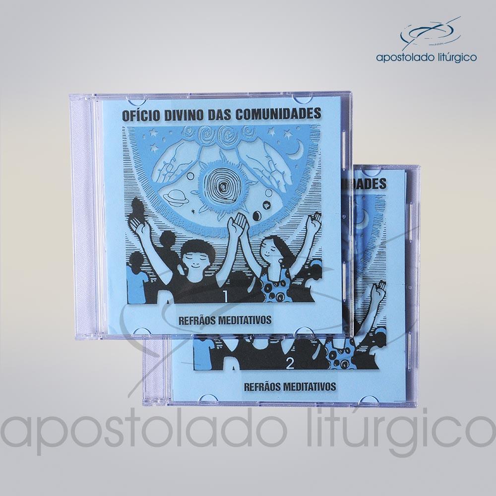 CD OfIcio Divino das Comunidades Refroes Meditativos 1 a 2 COD 5522 | Apostolado Litúrgico Brasil