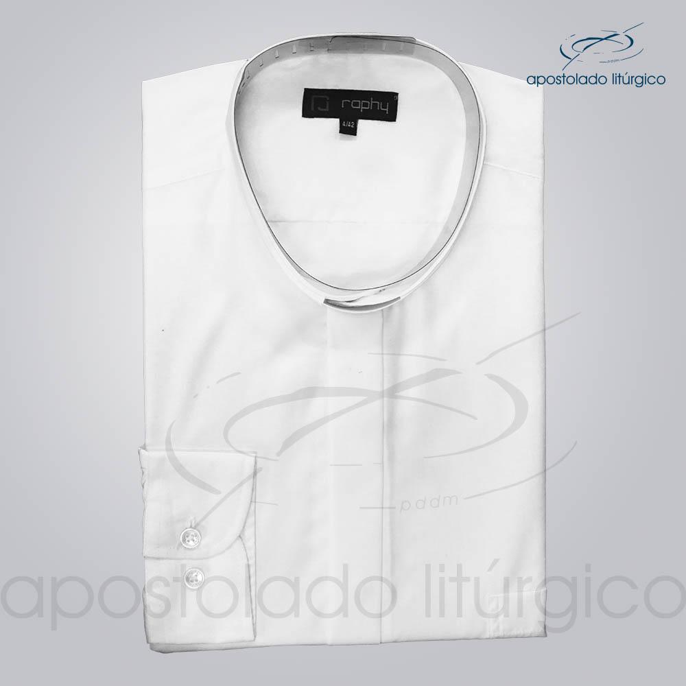 Camisa Algodão Branca Manga Longa Tamanho 4 COD 3812 | Apostolado Litúrgico Brasil