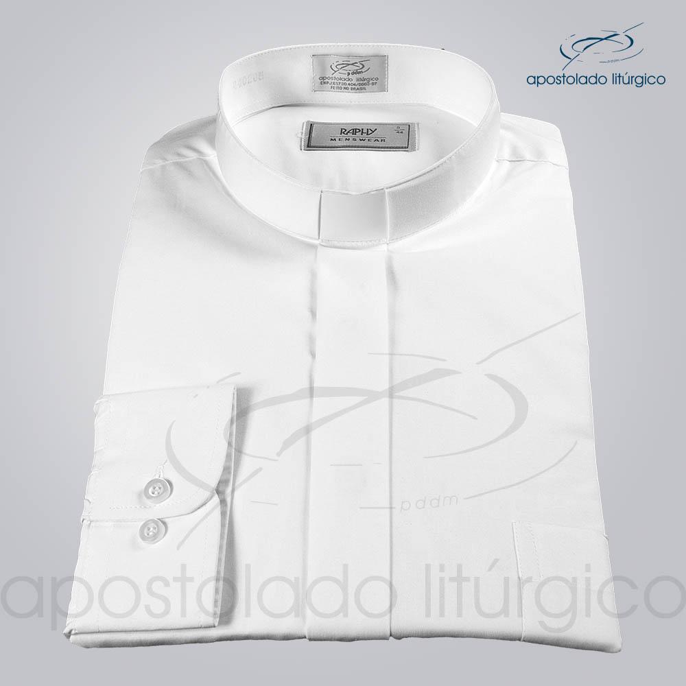 Camisa Algodão Branca Manga Longa Tamanho 5 COD 3815 | Apostolado Litúrgico Brasil