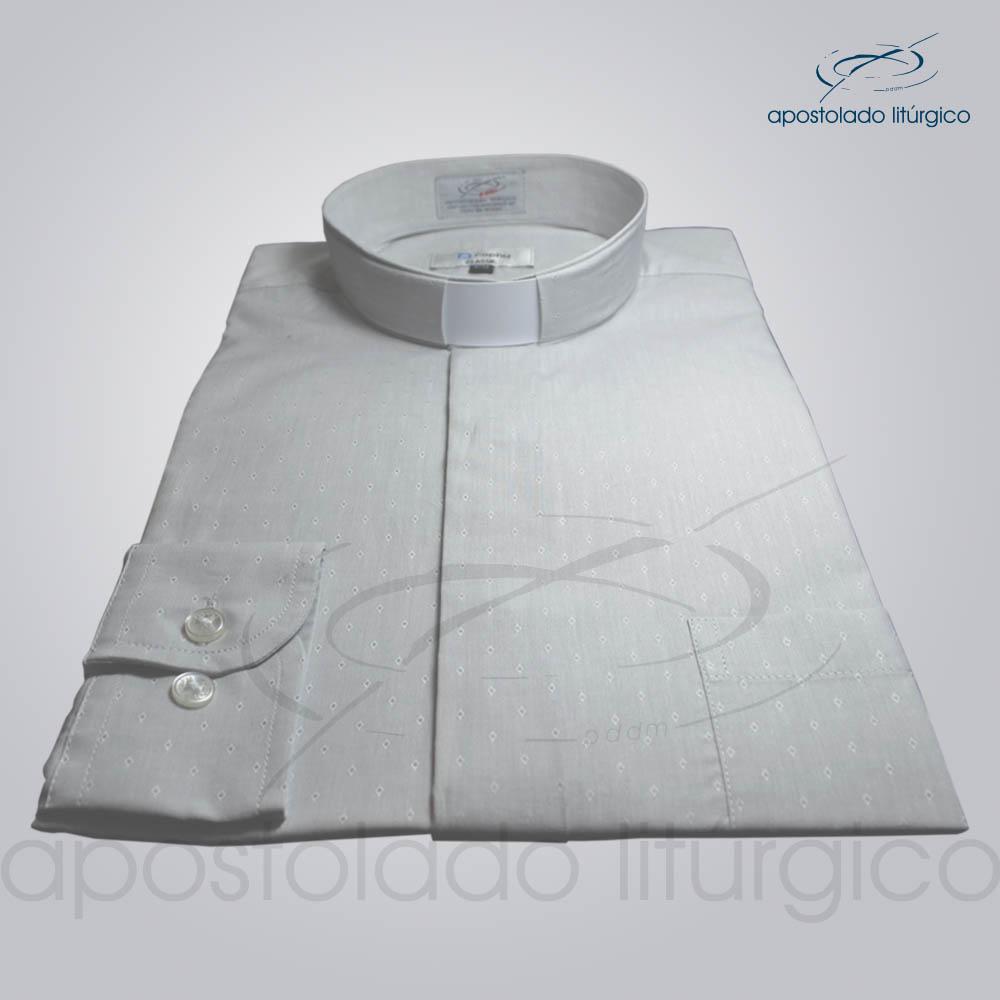 Camisa Algodão Cinza Triângulo Manga Longa | Apostolado Litúrgico Brasil