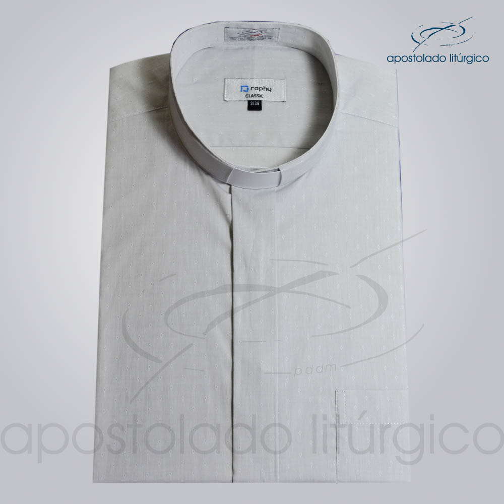 Camisa Algodão Cinza Triangulo Manga Curta Tamanho 2 COD 3243   Apostolado Litúrgico Brasil