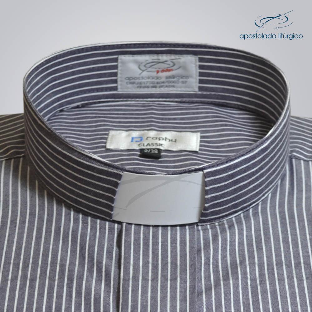 Camisa Algodão Listrada Jabuticaba Gola