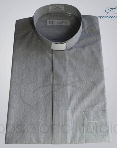 Camisa Algodão Listrada Preta Manga Curta – COD 3501