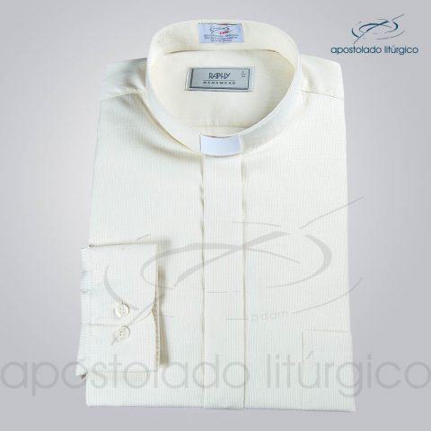 Camisa Casinha de Abelha Areia Manga Longa Tamanho 4 (b)