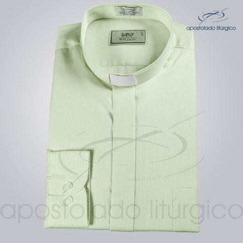 Camisa Casinha de Abelha Verde Água Manga Longa (2)