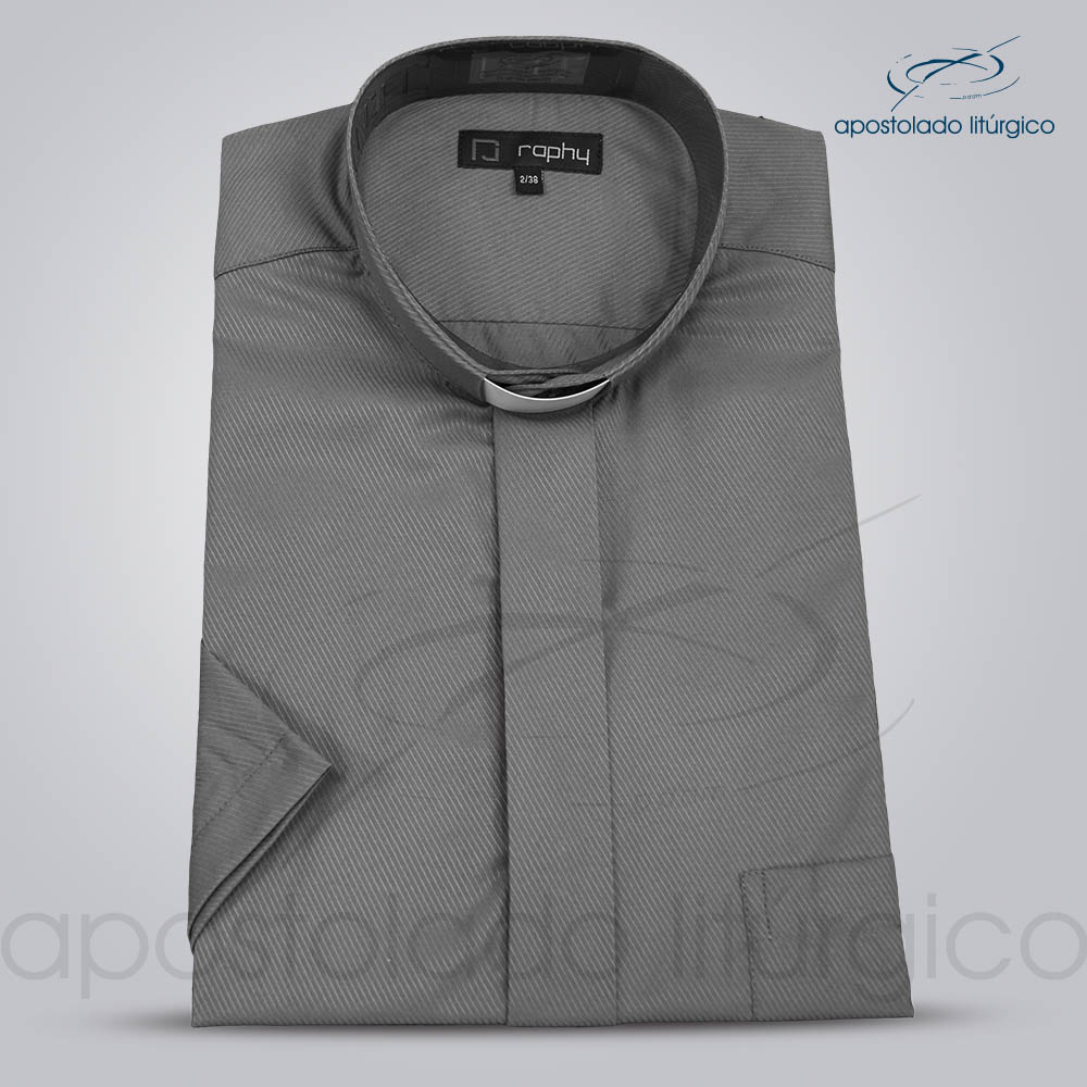 Camisa Cotton Mix Chumbo Manga Curta | Apostolado Litúrgico Brasil