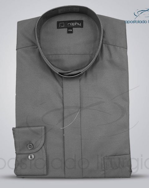 Camisa Cotton Mix Chumbo Manga Longa
