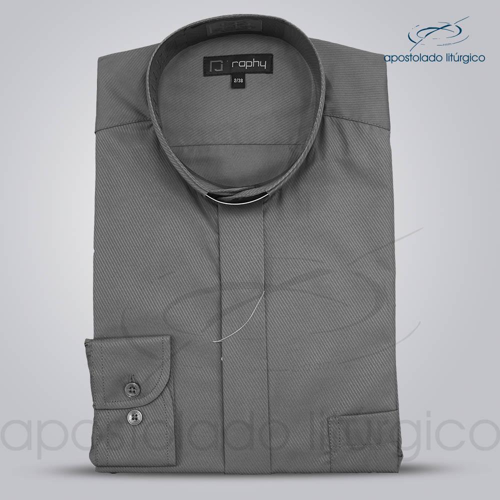 Camisa Cotton Mix Chumbo Manga Longa | Apostolado Litúrgico Brasil