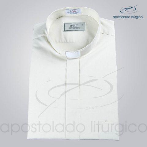 Camisa Natural Blend Bege Manga Curta