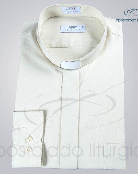 Camisa Natural Blend Bege Manga Longa (b)