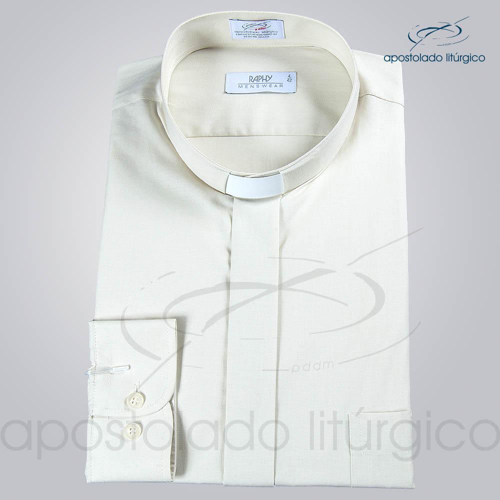 Camisa Natural Blend Bege Manga Longa b | Apostolado Litúrgico Brasil