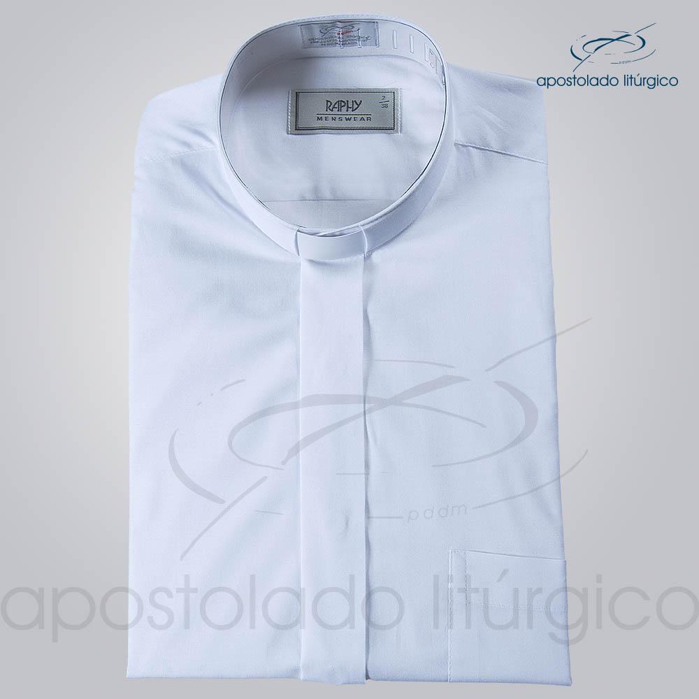Camisa Natural Blend Branca Manga Curta 2   Apostolado Litúrgico Brasil