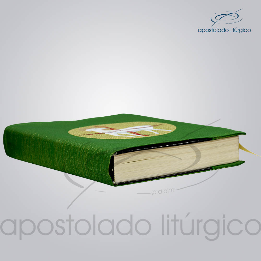 Capa de Evangeliario Bordado Cordeiro Verde | Apostolado Litúrgico Brasil
