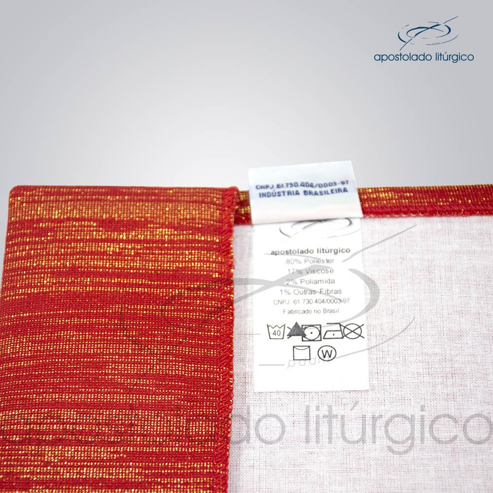 Capa de Evangeliario Bordado Cordeiro Vermelho Detalhes | Apostolado Litúrgico Brasil