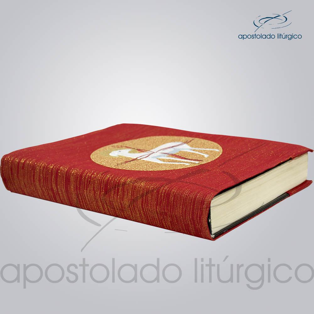 Capa de Evangeliario Bordado Cordeiro Vermelho | Apostolado Litúrgico Brasil
