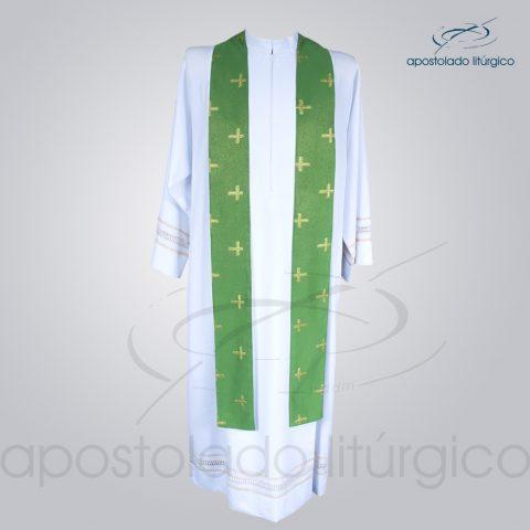 Casula Brocado Cruz Pascal Verde Estola – COD 3309
