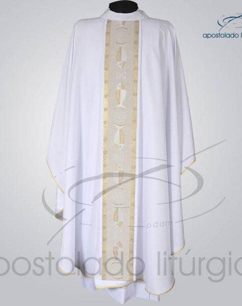 Casula Crepe Seda Galao [Peixe] Branca Frente