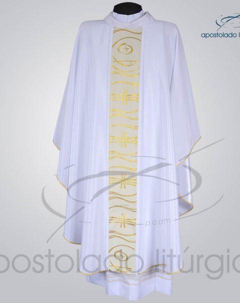 Casula Crepe Seda Galao [Peixe Cruz] branca Frente