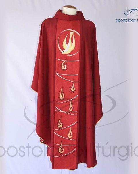 Casula Crepe Seda galao [espirito santo] vermelha frente