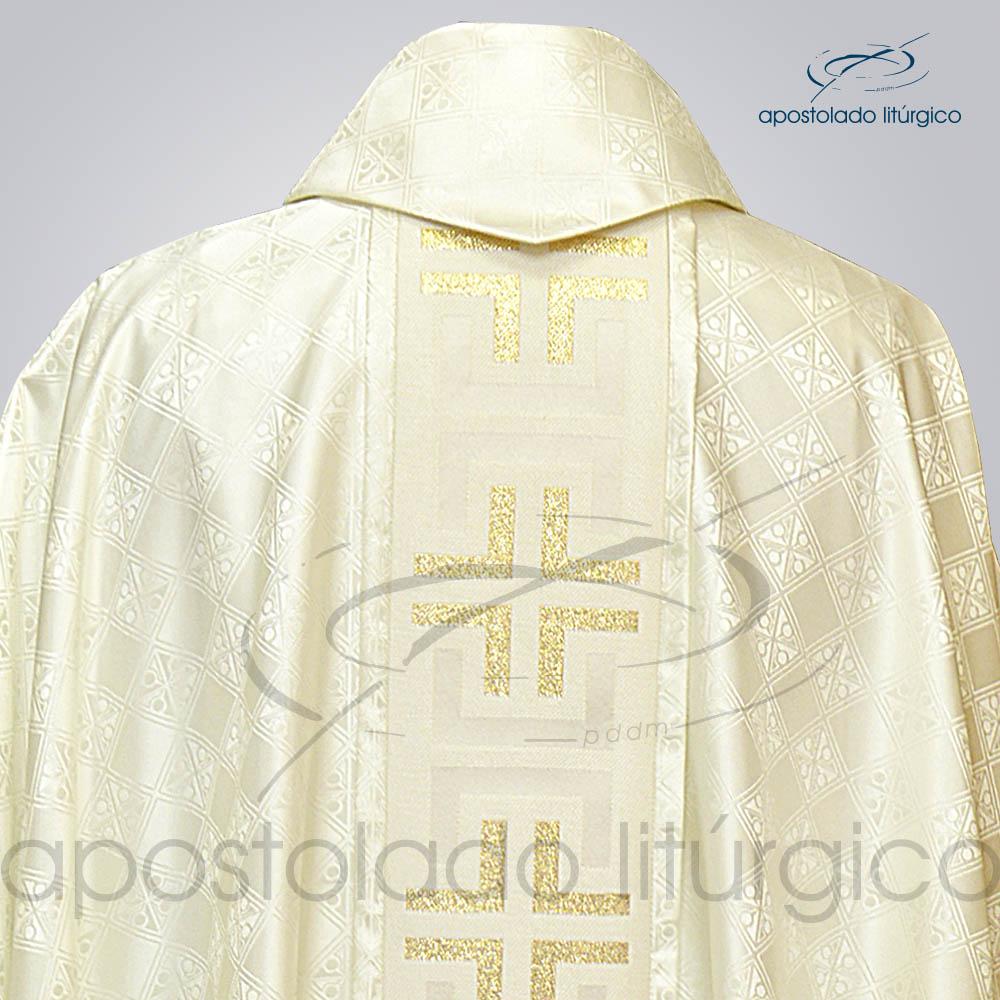 Casula Gaudium Galao tupa Perola costas gola | Apostolado Litúrgico Brasil