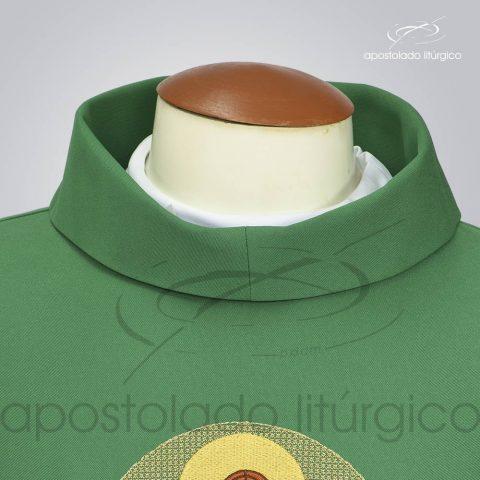 Casula Oxford Bordado Bom Pastor Verde Frente Gola – COD (P1390, M1197, G1794)