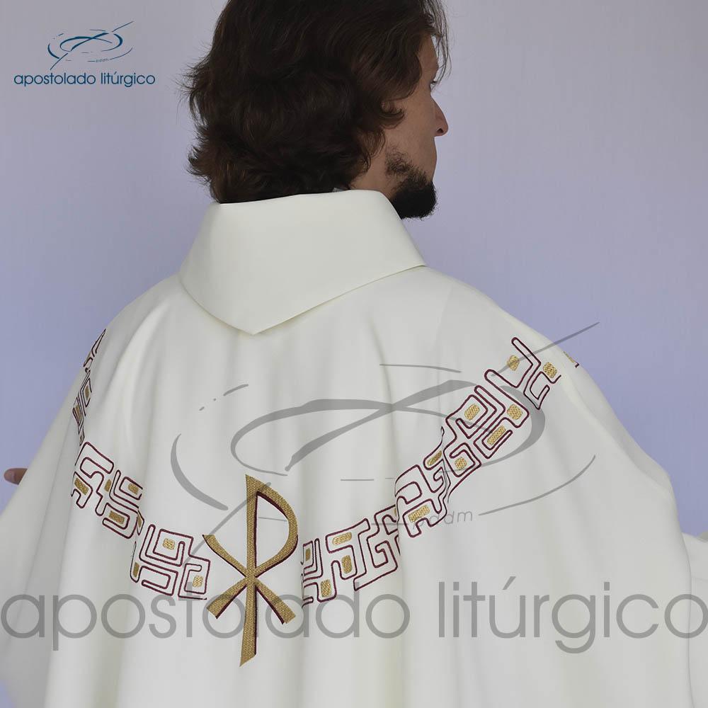 Casula oxford bordado PX Bege Bordado | Apostolado Litúrgico Brasil