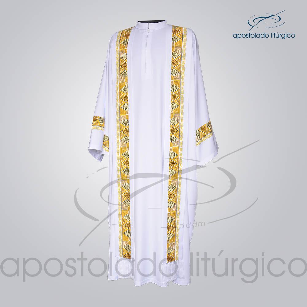 Conjunto Casula Alva Com Aplicacao N 9 146cm Frente 2 COD 01021 0000 | Apostolado Litúrgico Brasil