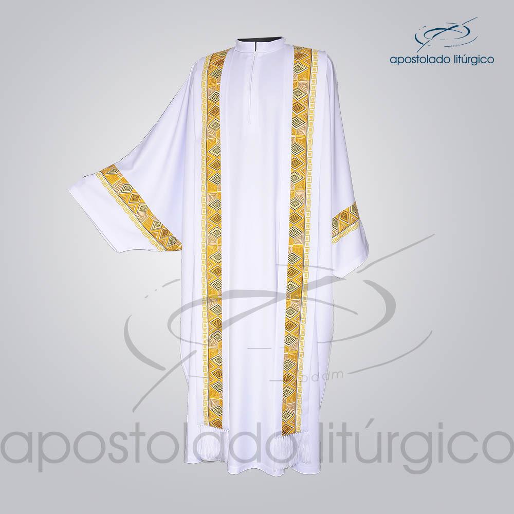 Conjunto Casula Alva Com Aplicacao N 9 146cm Frente COD 01021 0000 | Apostolado Litúrgico Brasil