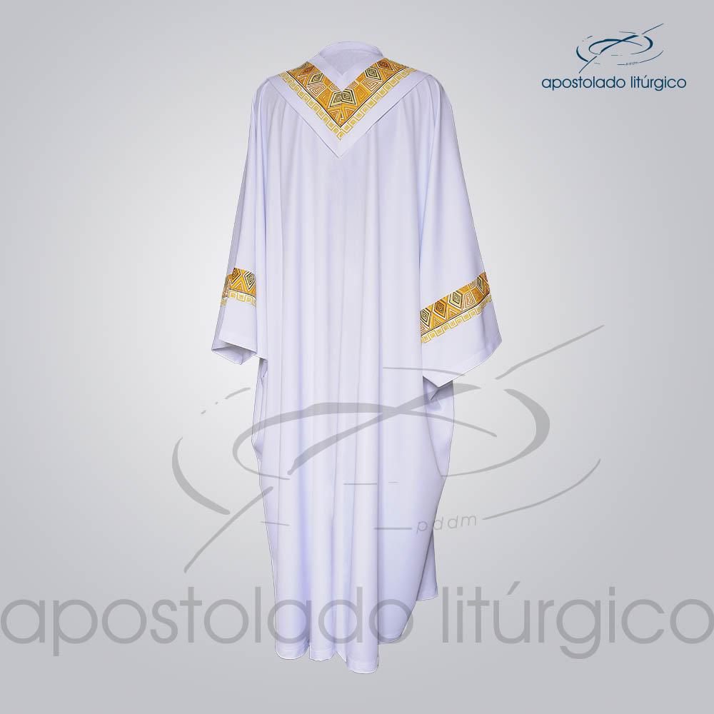 Conjunto Casula Alva Com Aplicacao N 9 Costas COD 01021 0000 | Apostolado Litúrgico Brasil