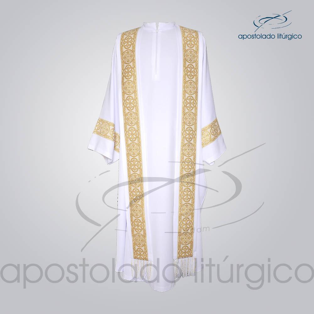Conjunto Casula Alva Galao Largo N 10 Dourado Frente COD 01865 0000 | Apostolado Litúrgico Brasil