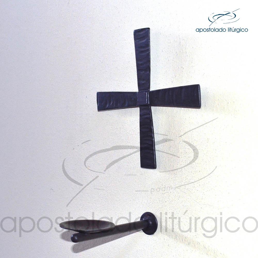 Conjunto Cruz e Castical para Dedicacao de Igrejas cod 13014 13015 | Apostolado Litúrgico Brasil