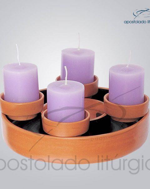 Coroa do Advento Ceramica Grande Com Velas