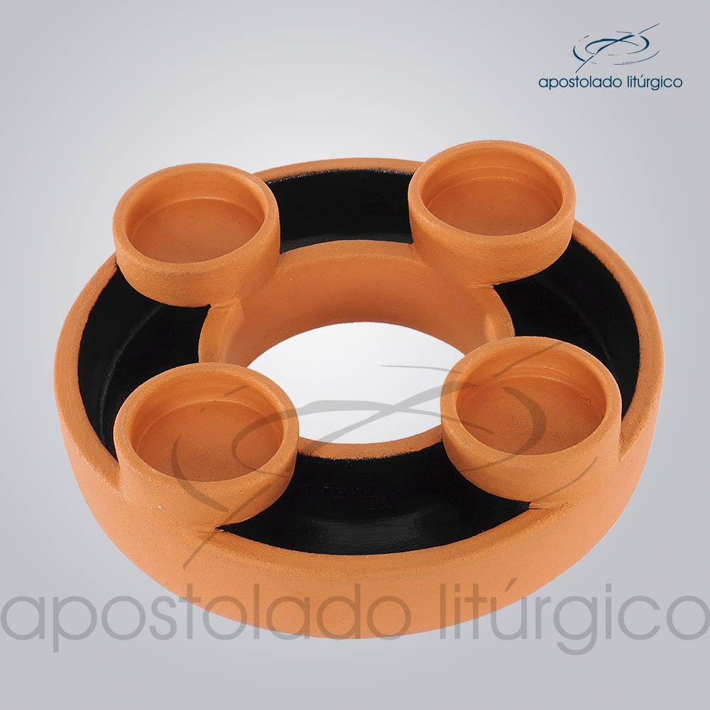Coroa do Advento Ceramica Grande | Apostolado Litúrgico Brasil