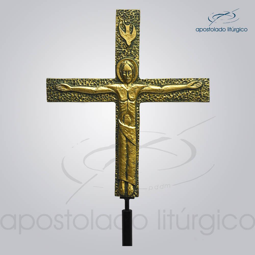 Cruz Processional Lotus Detalhe | Apostolado Litúrgico Brasil