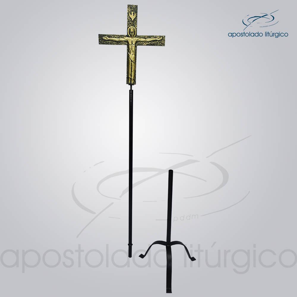 Cruz Processional Lotus Pequena 217cm COD 4025 1 | Apostolado Litúrgico Brasil
