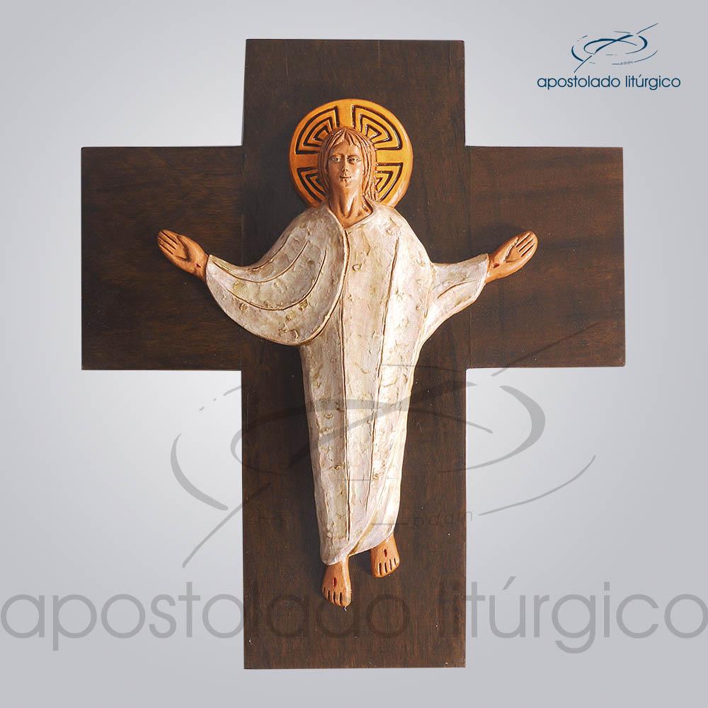 Cruz Ressuscitado Pequeno 29x34cm COD 2089 | Apostolado Litúrgico Brasil