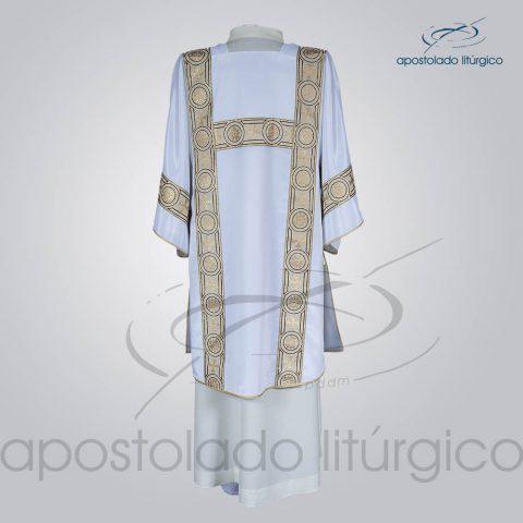 Dalmatica Crepe Seda Galao [Largo N 14] Branca Costas