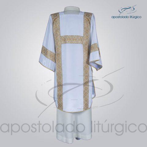 Dalmatica Crepe Seda Galao [Largo N 9] Branca Costas