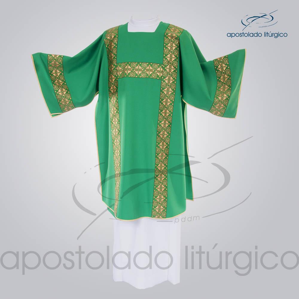 Dalmatica Oxford Galao Largo N 9 Verde Frente | Apostolado Litúrgico Brasil