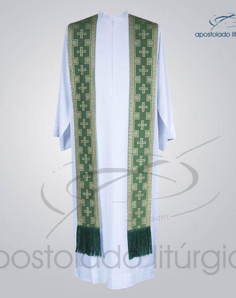 Estola Presbiteral Brocada [Cruz] Verde Frente