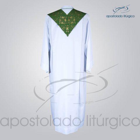 Estola Presbiteral Brocada [Grega Indigena] Verde Costas