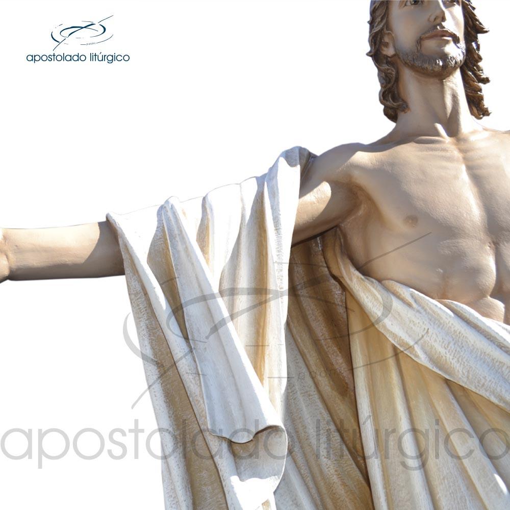 Imagem Cristo Ressuscitado 160x150cm maos COD 4302   Apostolado Litúrgico Brasil