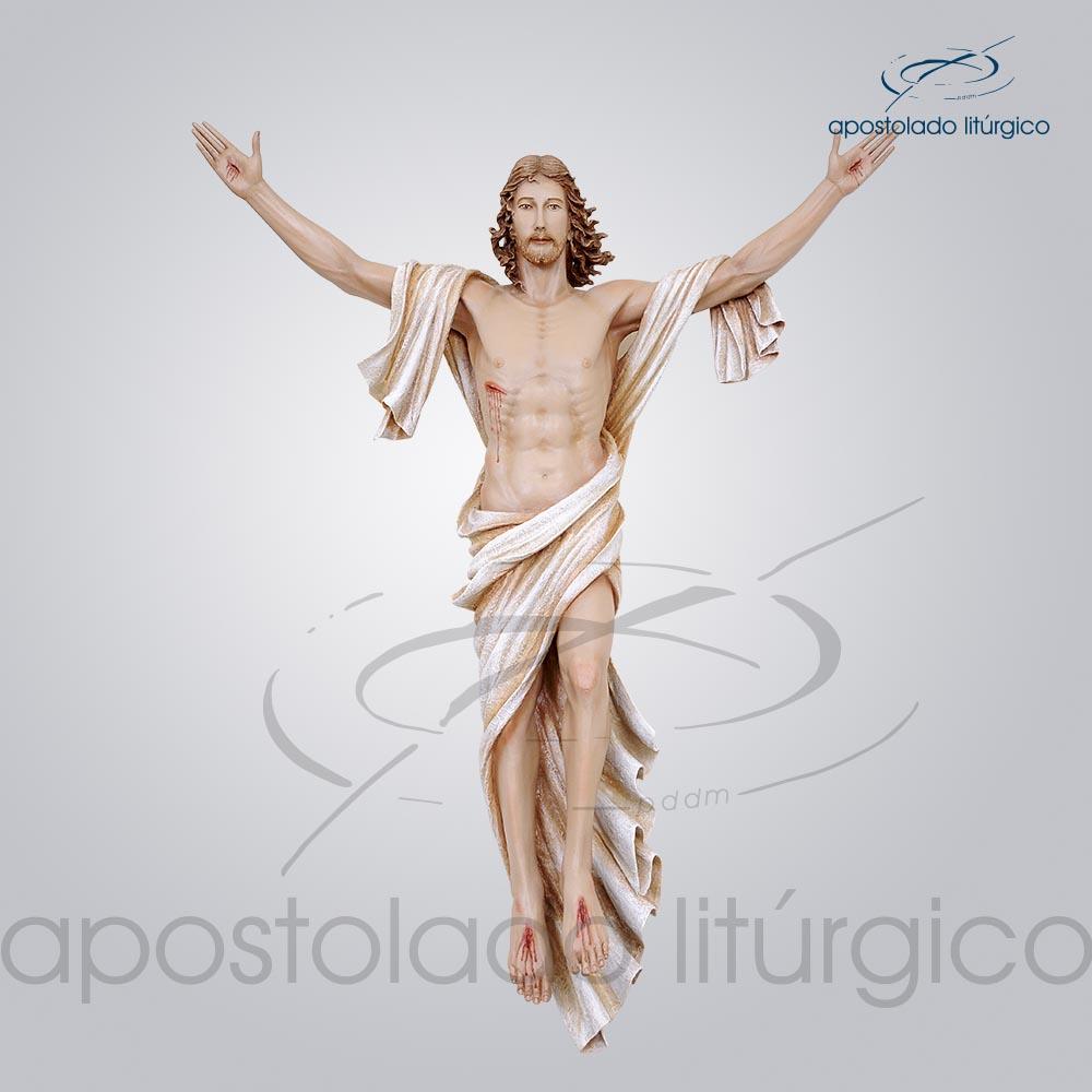 Imagem Cristo Ressuscitado Fibra 100x80cm Frente COD 4156 | Apostolado Litúrgico Brasil
